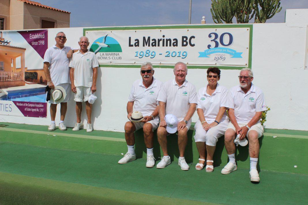 Celebrating 30 years at La Marina Bowls Club