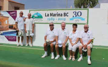 Celebrating 30 years at La Marina Bowls Club