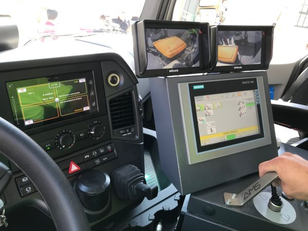 The interior of one of the new vehicles