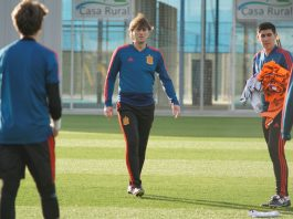 Spanish Under 15 team trains at Pinatar Arena