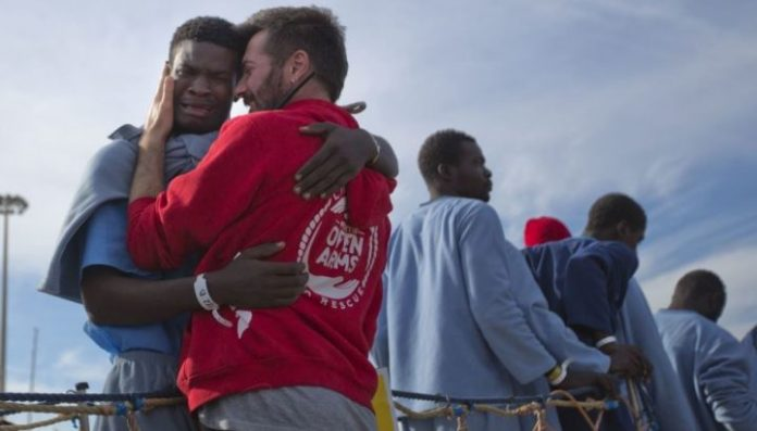 The relief of one immigrant following his rescue