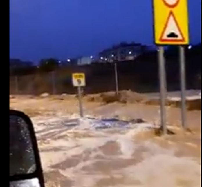 ROJALES was also under floodwaters on Wednesday