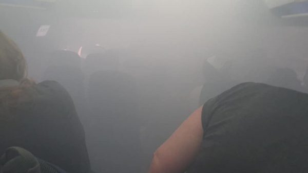 The British Airways plane has been filled with smoke (Lucy Brown)