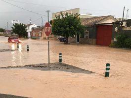 Los Perez, Los Montesinos to San Miguel CV940 road closure - due to flooding in the storms.