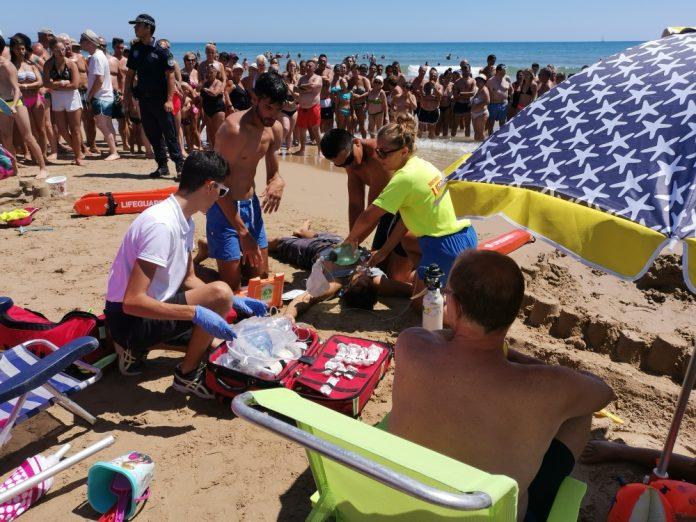 La Mata Beach Emergency Drills