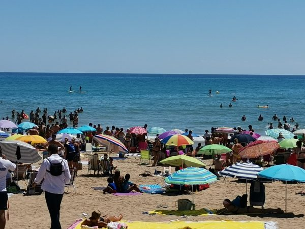 Emergency drills carried out on La Mata Beach