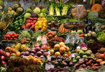 Vitamin C is found in a variety of raw vegetables and fruits