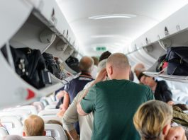 Increase in thefts from aircraft overhead luggage compartments