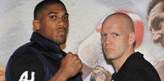 Anthony Joshua and Paul Butlin
