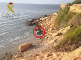 The man was trapped between rocks overnight