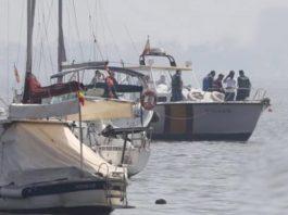 The scene of the crash close to the yacht club in Santiago de la Ribera
