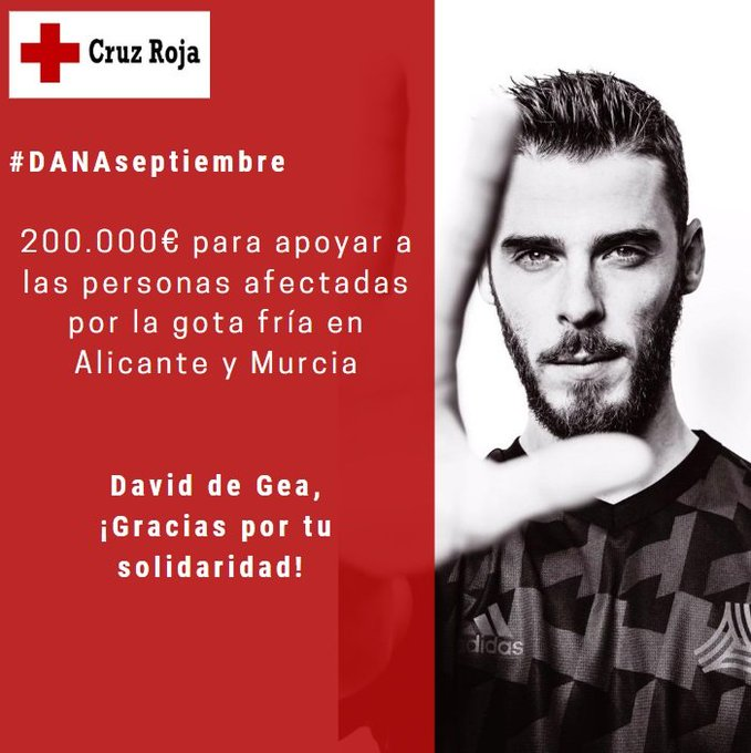 David de Gea donates 200,000 euro to Gota Fria Disaster Fund