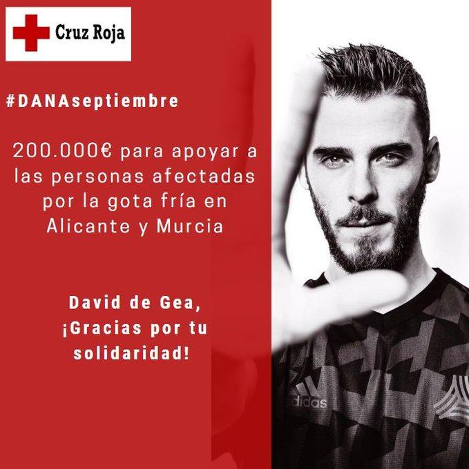 David de Gea donates 200,000 euro to Gota Fria Disaster Fund