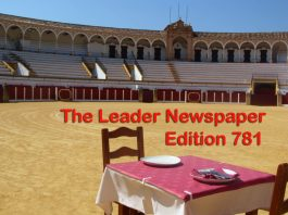 Edition 781 of the Leader Newspaper.