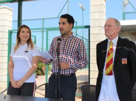 The tournament was officially opened by the President of Vistabella Bowls, Joaquín Rocamora