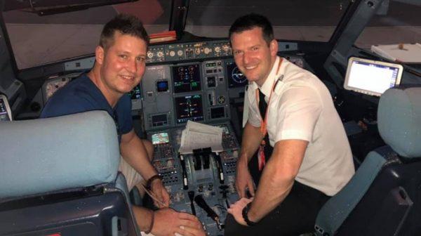Michael Bradley is an easyJet pilot himself. Credit Facebook - Michael Bradley