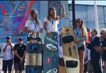 YOUNG MOJAQUERA SPORTSWOMAN OSAÏA REDINGWINS FRENCH KITE SURF CHAMPIONSHIP