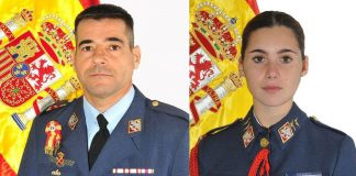 Air Force Commander Daniel Melero Ordonez, 50 years old and a native of Cádiz, and Ensign Rosa Almirón Otero , aged just 20 years and from Lucena (Córdoba).