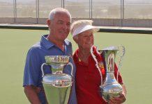 Singles champions Anita Brown and Ian Kenyon