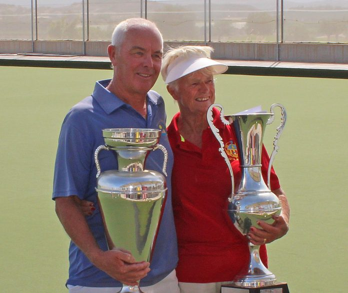 Singles champions Anita Brown and Ian Kenyon