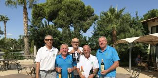 Picture from L to R: Mike Davies, Ray Housley, David Swann, Paddy O'Brien, Graham Blakeway,..