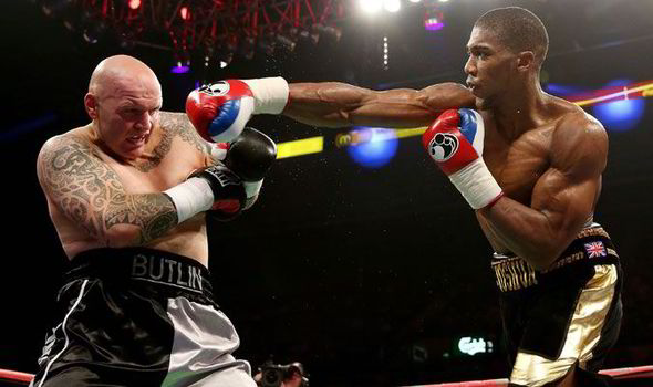 Joshua and Butlin in 2013. Butlin's heart going with a Ruiz jnr stoppage.