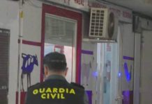 Guardia outside the premises in the Altea shooting.
