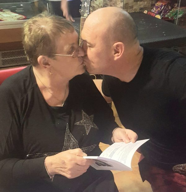 Martin with his 78 year old mother, Norah.