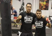 Santiago Silva Lopez (left) with Juan at Quesada Fitness Gym.