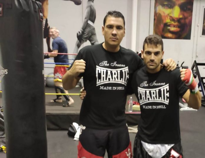Santiago Silva Lopez (left) with Juan at Quesada Fitness Gym.