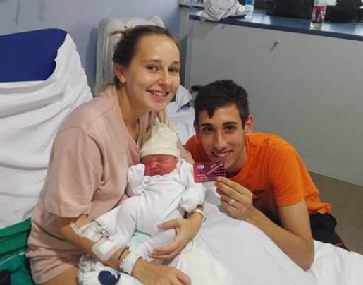 *Esteban, Harriet and son James.