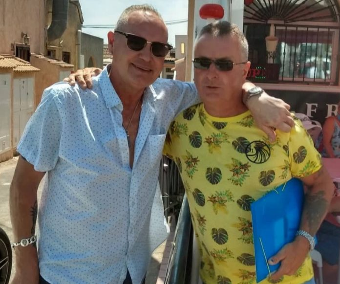 Paul Gascoigne and Russell Moore in Quesada.