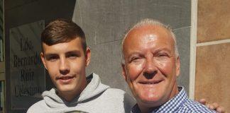 Jordan Martin and Chief Sports Editor Andrew Atkinson.