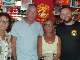 Patti, Glenn and Breda, with Ger of Smiling Jack's