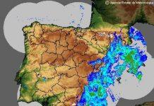 AEMET Orange warning - from Yellow - heavy rain north of Alicante