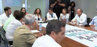 Meeting at Torrevieja Hospital between General Directors and Mayoral representatives of Vega Baja