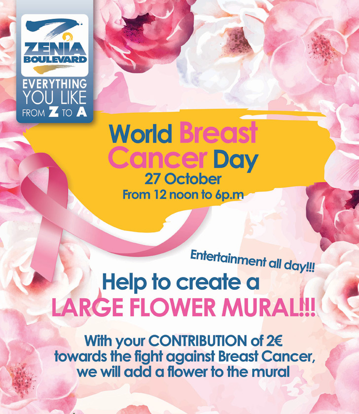 La Zenia Boulevard Shopping Center supports World Breast Cancer Awareness month in October 2019