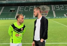 De Gea with his hero Nino at Elche earlier in the season