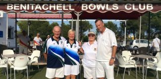Annie Jones and Christ Williams BBC and on the Left Runners-up Pat and John Pittway Javea Green