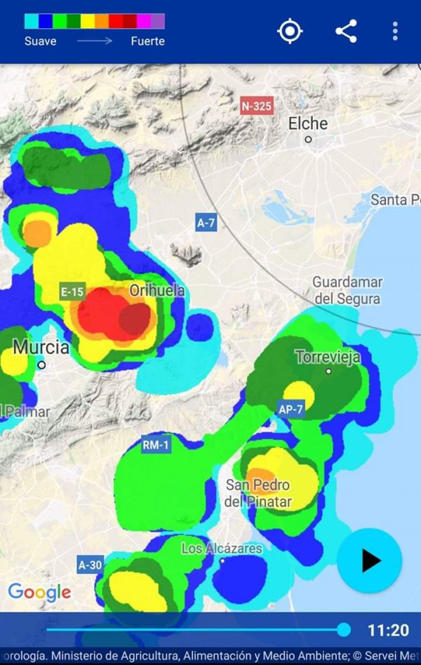 Thunderstorms and hailstorms hit Vega Baja