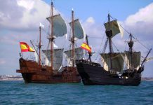 Replicas of Nao Victoria and the Galeón España arrive in Torrevieja