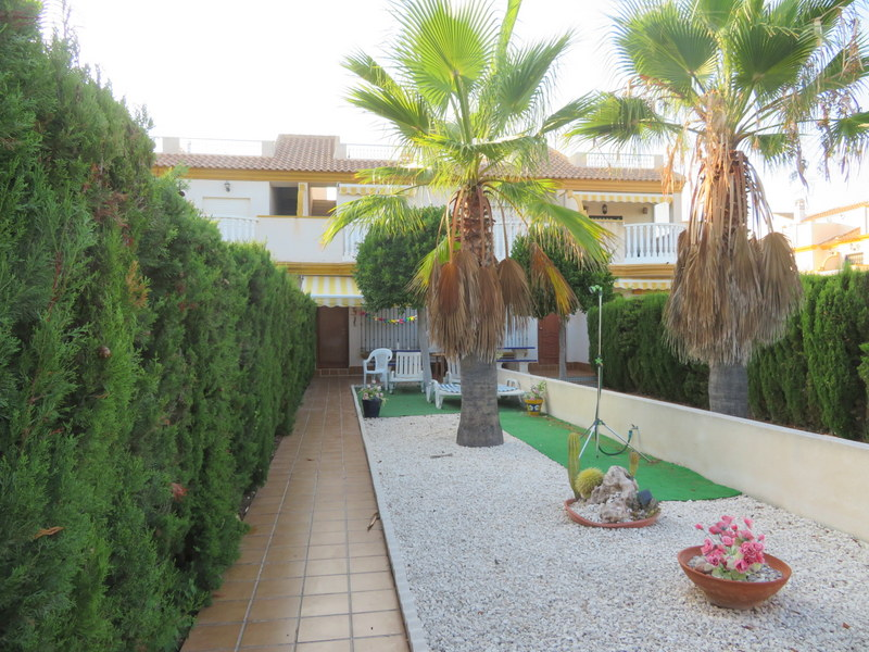 Front line 3 bedroom, 2 bathroom Cabo Roig property for sale townhouse with uninterrupted sea views