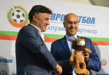 Boyan Naydenov with the ex-president of the Bulgarian Football Union Borislav Mihailov