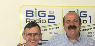 Big FM radio owner Richie Sparks (left) - targeted by jamming signals - and snooker star Willie Thorne.