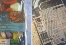 The Waitrose veg causing a stir had an Aldi sticker.