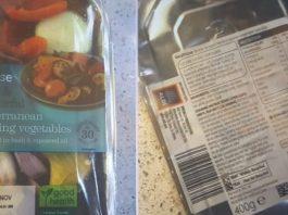 The Waitrose veg causing a stir had an Aldi sticker.