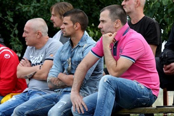 Cvetomir Naydenov supporting his favorite team with Hooligans