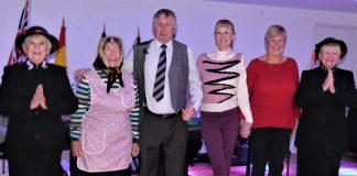 The photos shows l-r Jo, Anna, Chris, Jill, Barbara and Helen