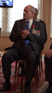 Percy receiving his Legion d'honneur at the French Embassy in London