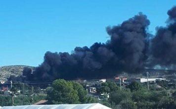 Fire close to Alicante airport